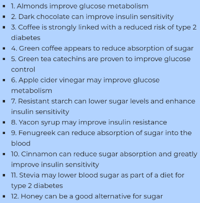12 Foods for Diabetes and Gout list